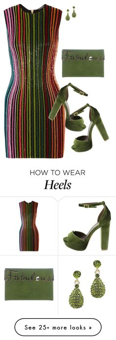 """FERN2"" by tina-pieterse on Polyvore featuring Balmain and Charlotte Olympia"