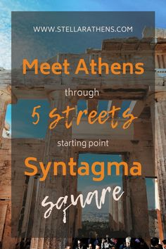 "There's a ""star"" around Syntagma square. 5 streets that when you walk them you get to see MOST of Athens Highlights! Top isnider's advice! Packing List For Vacation, Vacation Trips, Museum Cafe, Highlights, Crete Island, Commercial Street, Old Commercials, Landmark Hotel, Thessaloniki"