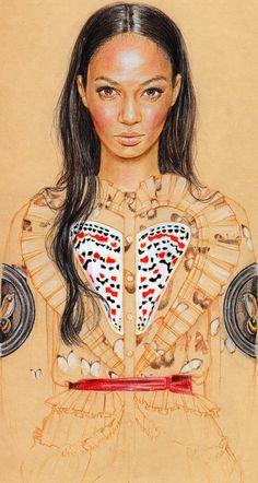Through+Cédric's+Eyes:+Joan+Smalls+in+Riccardo+Tisci+for+Givenchy