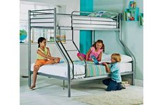 Triple Sleeper Bed, Bunk Bed , Triple Bed In White