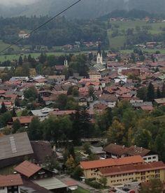 Overlooking the village of Oberstdorf