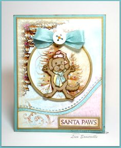 Stamps - North Coast Creations Snow Angel Murphy, Santa's List, Santa Paws, ODBD Custom Circle Ornaments Dies, ODBD Custom Matting Circles Dies, ODBD Christmas Paper Collection 2014