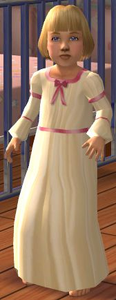 Mod The Sims - Sweet Dreams Antique Toddler Nightdress