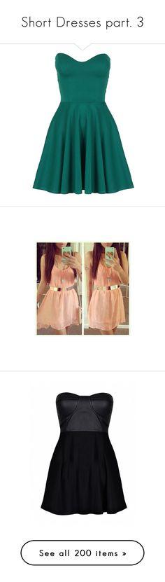 """Short Dresses part. 3"" by carlou863 ❤ liked on Polyvore featuring dresses, short dresses, vestidos, short tube dress, teal dress, blue dress, flared dress, short flared dresses, outfits and full outfit"