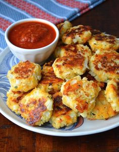 Pin It A delicious way to incorporate some healthy into your meal. Fantastic cheesy goodness. Serve with marinara, ketchup, hot sauce or jus...