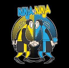 Awesome 'Ninja+VS+Ninja' design on TeePublic! Spy Vs Spy, Escape The Classroom, Ninja 2, Mad Magazine, Mortal Kombat, Satire, Cool T Shirts, Spiderman, Disney Characters