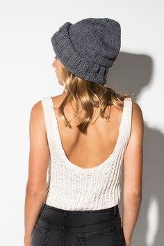 The Traveller Slouch Beanie (Made to order) www.ecomono.com.au