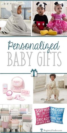 Looking for items to add to your baby gift registry? Looking for a unique, customized baby gift? View our updated list of the best personalized baby gifts. Unique Baby Girl Gifts, Unique Baby Boy Gifts, Baby Gifts To Make, Custom Baby Gifts, Best Baby Gifts, Personalized Baby Gifts, Newborn Nursery, Newborn Baby Gifts, Homemade Baby Gifts