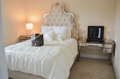 My most recent completed project was this contemporary master bedroom with luxurious furnishings!
