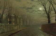 John Atkinson Grimshaw – private collection. Silvery Moonlight (1882)