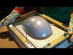 Homemade vacuum forming a helmet. cool idea