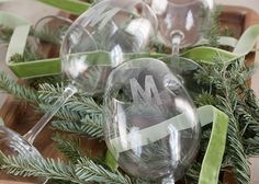 homemade gifts DIY wine glasses