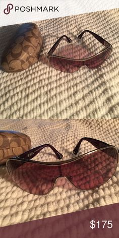 Coach Sunglasses cute coach sunglasses perfect condition includes case, mini coach booklet, napkin. *make an offer i have no closet room and I need space, bundling encouraged* Coach Accessories Sunglasses