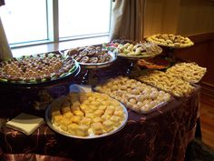 Croatian pastries for a bridal shower.