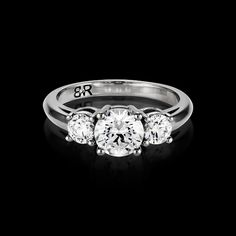 Tres is the BigRocxs 3 Stone engagement ring. If 1 Rock is good, 3 Rocxs is over the top. 3 Stone Engagement Rings, Wedding Bands, Rock, Diamond, Collection, Jewelry, Style, Fashion, Jewellery Making