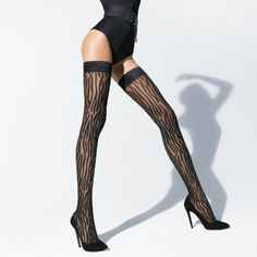 Wolford Luxury Lingerie - Wolford Wilderness Stay-up | Journelle Fine Lingerie