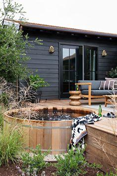 Outdoor Spaces, Outdoor Living, Outdoor Decor, Small Bungalow, Garden Design, House Design, Cabana, Exterior Design, Outdoor Gardens