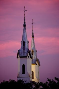 A spires-ful sunset in Frederick.