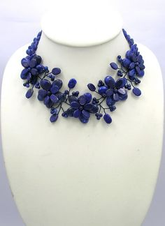choker necklaceBeaded JewelryPearl por audreyjewelry en Etsy, $37.50