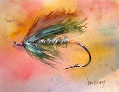 Image Detail for - spey watercolor and gouache this is a steelhead pattern my fishing ...