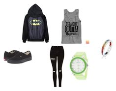 """Untitled #66"" by destinyaldridge on Polyvore featuring Topshop, Vans and Via Nova"