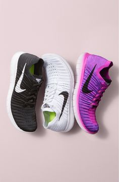 A fitness favorite! These running shoes from Nike have a snug, sock-like fit that perfects the featherweight design.