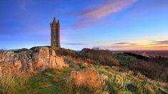 Scrabo Tower,condado de Down, Irlanda del Norte