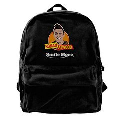 LostMe Roman Atwood Smile More Canvas Backpacks  Bags For School Travel Rucksack *** Check out the image by visiting the link. (Note:Amazon affiliate link)