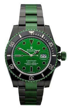 Rolex in Irish Green.... The Shamrock for your wrist Obviously someone found the pot of gold!