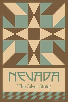 NEVADAquilt block. Ready to sew. Single 4x6 block $4.95.