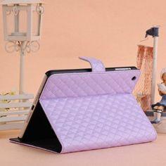 Purple iPad mini Cute and Elegant Leather Quilted iPad mini case