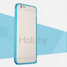 TOTU  Mellow Series(Shine Edition) Hippocampal Buckle Fabric Inside Aluminum Alloy Metal Bumper for  iPhone 6 Plus 6S Plus 5.5 Inch(Blue)