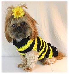 Crochet dog sweater pattern... click through to find pattern. crochetguru.com