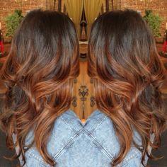 reddish brown ombre