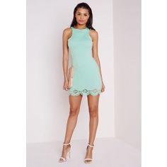 Nakita Laser Cut Scalloped Bodycon Mini Dress - Bodycon Dresses - Missguided | Ireland