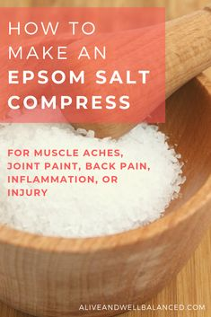 Try an Epsom salt compress for pain relief. Epsom salt is a safe, inexpensive alternative to over-the-counter pain killers. Make and epsom salt compress as an a Back Spasm Relief, Lower Back Pain Relief, Muscle Pain Relief, Relieve Back Pain, Back Pain Remedies, Muscle Spasms, Natural Pain Relief, Natural Remedies, Natural Treatments