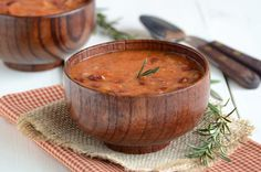 Rosemary Red Bean Soup.  It is still amazingly hot here in Florida and I want to make this!