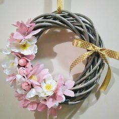 #wianek #wiosna #wieniec #wreath #spring #flowers #dekoracje #design #decorations #DIY #handmade #easter