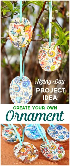Love this fun DIY Project - Create your own ornament. Great to do with the kids and a nice way to have a special keepsake ornament year after year. #ornaments #holidays #DIY