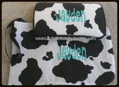 Cow Print Wipe Case and Diaper Clutch by LilyBeanCouture  $24.00  Find me on FB www.facebook.com/lilybeancouturedesigns