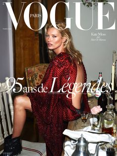 Kate Moss by Meert & Marcus on the cover of Vogue Paris October 2015