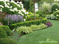 When it comes to summer, many individuals associate backyards with picnics, barbeques, swimming, and outdoor sports. Farm Gardens, White Gardens, Outdoor Gardens, Front House Landscaping, Outdoor Landscaping, Side Garden, Lawn And Garden, Hampton Garden, Garden Borders