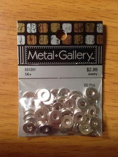 Metal Gallery 60 pcs. Spacer Beads.  Hobby Lobby. #531251.