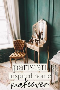 Instead of going to Paris—let's bring Paris to you! Want to bring a touch of Parisian-inspired flair to your home? This makeover guide is for you! French Cafe, Parisian Apartment, Cafe Chairs, Neat And Tidy, Twinkle Lights, Paris Travel, Inspired Homes, Accent Colors, White Walls
