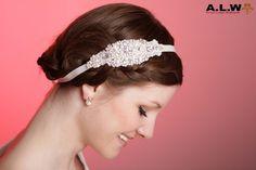 Haarband für die Braut aus Strass und Perlen