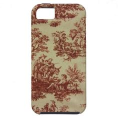 French Toile in Pink Iphone 5 Case.