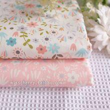 Envío gratis 160x50 cm Flor polvo fresco temblando ropa de comercio exterior de tela de tela de sarga de algodón Puro arte tissus patchwork(China (Mainland))