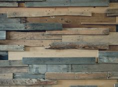pallet pieces mounted on a wall