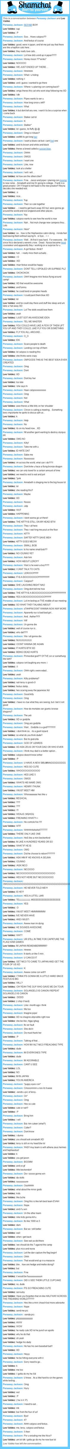 A conversation between Leo Valdez and Persassy Jackson: