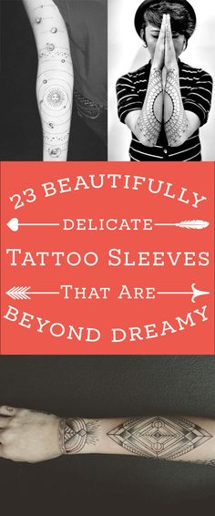 23 Stunningly Delicate Tattoo Sleeves That Are Beyond Dreamy
